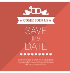 Wedding invitation save the date design graphic vector