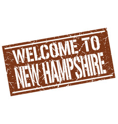 Welcome to new hampshire stamp vector