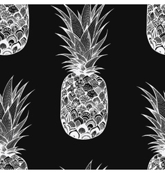 Seamless texture with pineapple textile vector