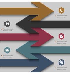 Trendy banner arrow design for website templates vector image