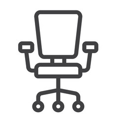 office chair line icon furniture and interior vector image