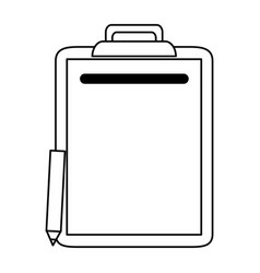 clipboard with pencil icon image vector image