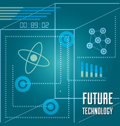 Technology bar statistics diagram and circuits vector