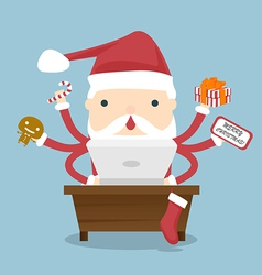 Santa claus busy vector