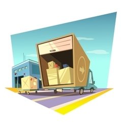 Warehouse cartoon vector image