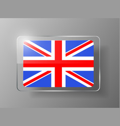 British flag glossy button vector