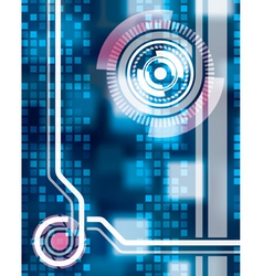 Abstract tech background seven vector