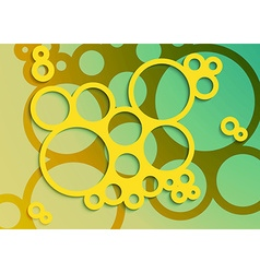 Set of bright abstract circles frames design vector