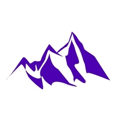 Mountain peaks and cliffs vector