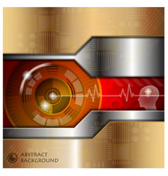 Technology eyeball thinking abstract background vector