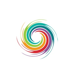 Abstract colorful swirl image vector image