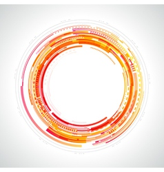 Abstract technology circles vector image vector image