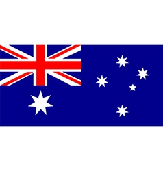 australia national flag vector image vector image
