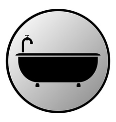 Bathtub button vector image