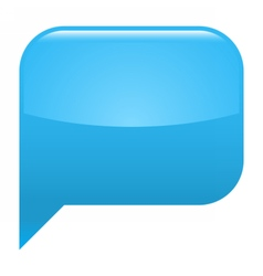 Blue glossy speech bubble blank location icon vector