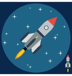 Cartoon rocket vector image
