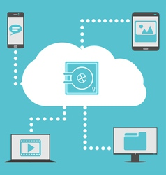 Cloud with devices vector