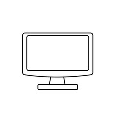 Computer screen isolated vector