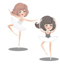 Dance of girls vector