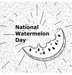 day poster watermelon a national holiday in the vector image