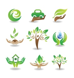 Eco Design Elements vector image vector image