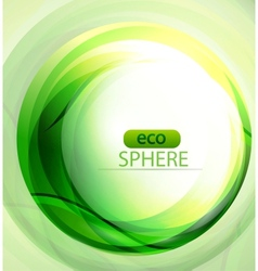 eco-friendly sphere background vector image