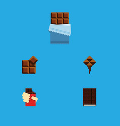 Flat icon bitter set of cocoa bitter shaped box vector