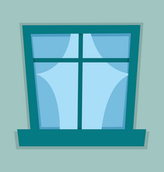 Flat window vector