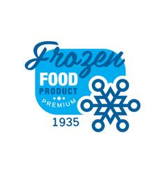 Frozen food product premium since 1935 sticker vector