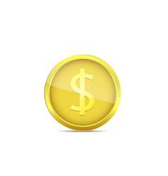 Golden euro coin vector