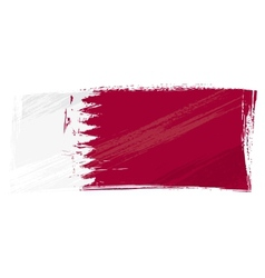 Grunge Qatar flag vector image vector image