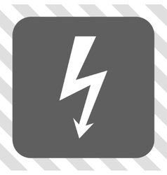 High Voltage Rounded Square Button vector image