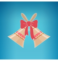 Holiday jingle bells on a blue background vector