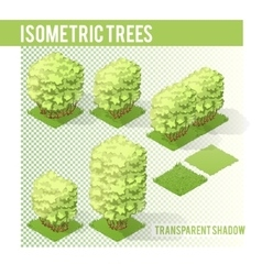 Isometric Trees 003 vector image vector image