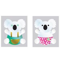 koala two vector image