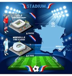 Lille marseille soccer stadium vector