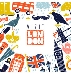 london frame background vector image vector image