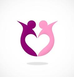 love partner sharing logo vector image