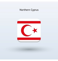Northern cyprus flag icon vector