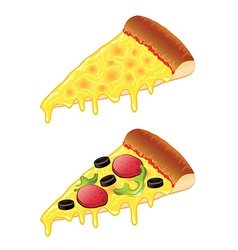 object slice of pizza vector image