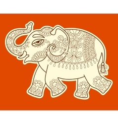 Original stylized ethnic indian elephant pattern vector