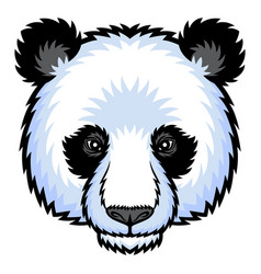 Panda head logo vector