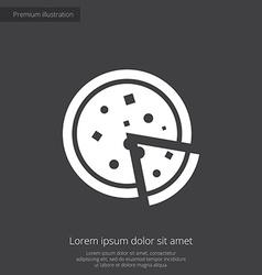 Pizza premium icon vector