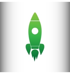 Rocket sign green gradient icon vector