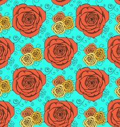 Sketch roses in vintage style vector image vector image
