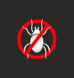 Stop dust mites logo vector
