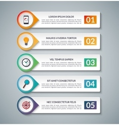 Infographic banner template with 5 options vector