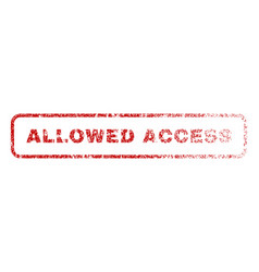 Allowed access rubber stamp vector