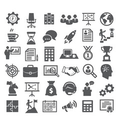 Business icons management marketing career vector