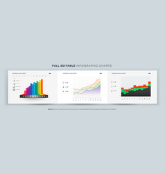 full editable infographic chart template vector image